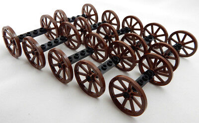 10 SETS OF NEW LEGO WAGON WHEELS (20 tires/10 axles) vehicle lot 33 mm 1 25  in
