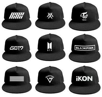 Kpop BTS WANNA ONE TWICE BLACKPINK IKON GOT7 Summer Baseball Hat Cap  Snapback 15d63fb86f4e