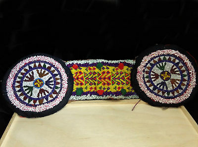 Large Beaded Kuchi Connector Headband Base Evil Eye Motifs Ethnic