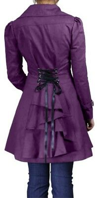 XS SM MD LG XL XXL - Purple NEW Gothic Victorian Corset Trench Steampunk Jacket