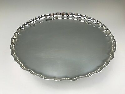 "Beautiful Swedish Sterling Silver Round 12-3/4"" Tray. C.G. Hallberg Stockholm"