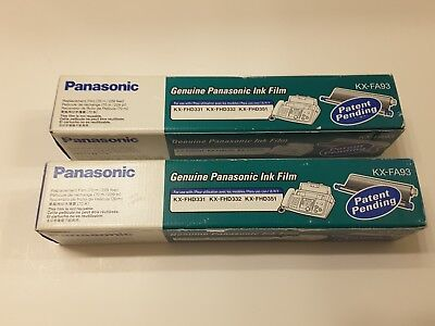 Brand New LOT OF 2 Genuine Panasonic KX-FA93 Fax Replacement Film
