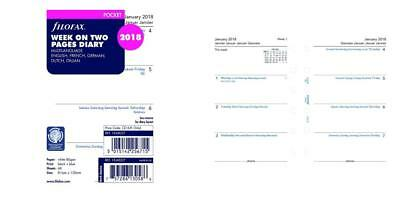 Filofax C68227-2018 2018 Week to View Refill, January December, Pocket Size:...