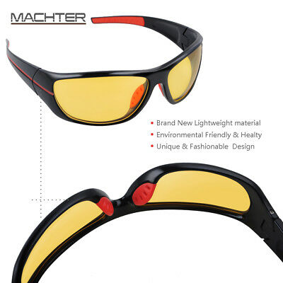HD Night Vision Sunglasses Yellow UV400 Safety Lens For Driving Sport Polarized