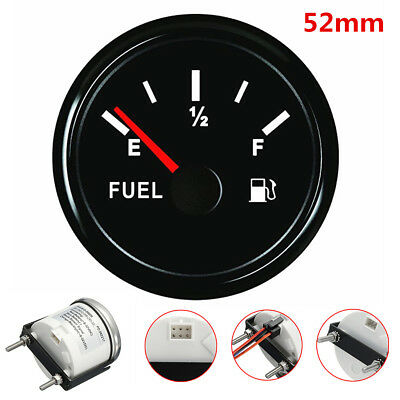 Universal Vehicles Fuel Level Gauge Marine Yacht Trim Tank Indicator 52mm 12/24V