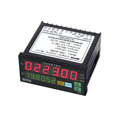 Digital Counter Electronic Length Batch Meter 1 Preset Relay Output Count Meter