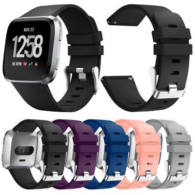 Soft Silicone Strap Bracelet Sport Rubber Band Wristband for Fitbit Versa
