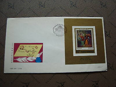 ROMANIA envelope 11/5/73 -stamp Yvert and Tellier bloc n°106 (cy2)