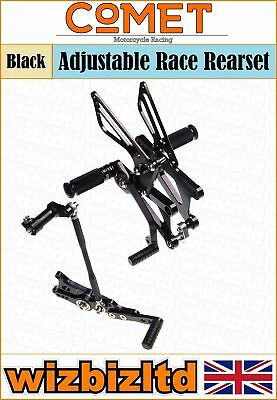 Comet Black Adjustable Rearset Triumph Daytona 675/Street Triple <2012 RSTR02BK