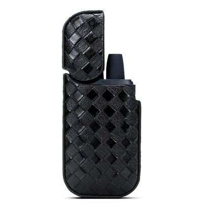 Men Full Protective Leather Woven Shell Pocket Case Cover For IQOS Cigarette