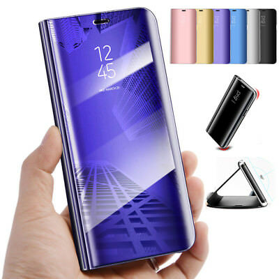 For Huawei P20 Pro/P20 Lite Luxury Clear View Case Cover Mirror Flip Stand Lot