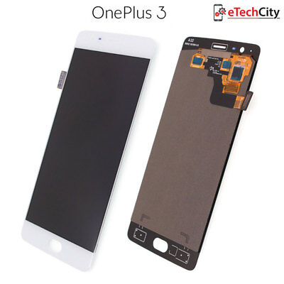 OnePlus 3 3T Original Lcd Display Screen Touch Digitizer Glass Replacement White