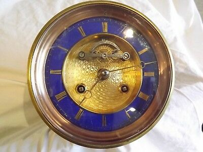 Stunning Large French Blue Clock Movement Working Order.