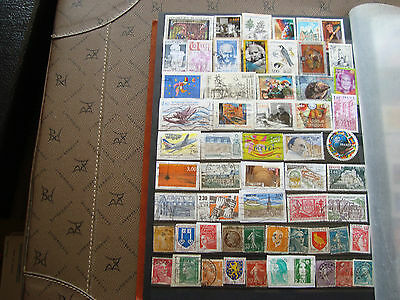 FRANCE - 57 stamps canceled (all state) (Aa7) french