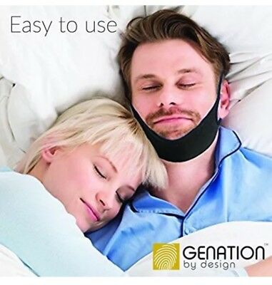 Genation Anti Snoring Chin Strap – Adjustable Sleep Aid Device