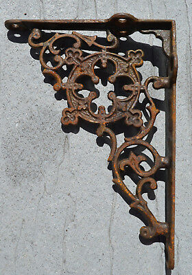 Decorative Antique Cast Iron Wall Shelf Brackets Architectural Hardware Ornate