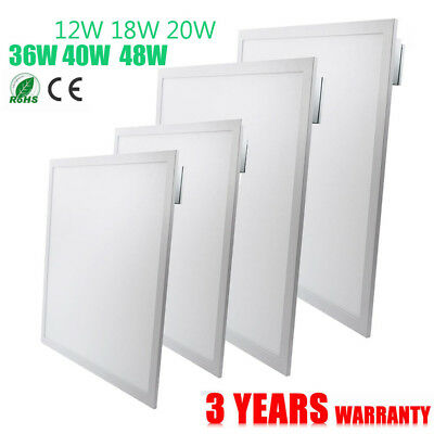 US 2x2 Ft Recessed LED Panel Light Ceiling Down White Frame 36W 40W 48W 1-10Pack