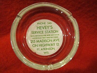 Vtg HEVEY'S Service Station Sinclair Ft Atkinson Wis WI Fort Hevey Gas Goodyear