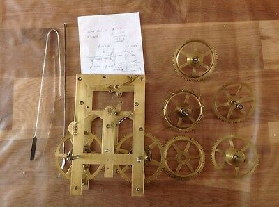 Antique Clock Parts Look Newly Cleaned Clockmakers Challenge To Rebuild?