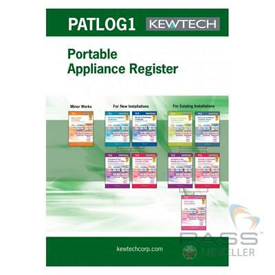 Kewtech PATLOG1 PAT Testing Log Book - 50 Carbon Copy Pages / UK Stock