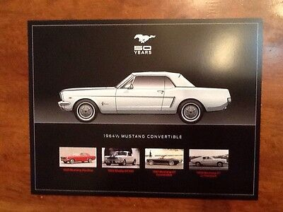 Mustang 64 1/2 To 2015 Brochures Muscle Car Collectors 50years 8 Different Ones