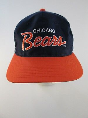 9624cce3 ... reduced vintage 1990s chicago bears script sports specialties snapback  hat nfl cap 4b00a 0836c