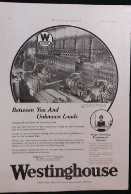 Vintage Ad 1920's WESTINGHOUSE SWITCHING EQUIPMENT & SUPERVISORY CONTROL    #29