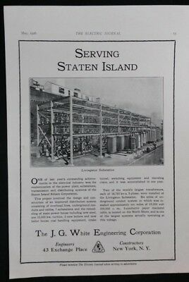 Vintage Ad 1920's J.G. WHITE ENGINEERING CORP & AMERICAN BRIDGE Co.  #32