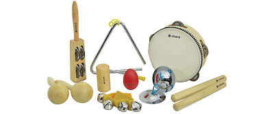 Chord Hand Percussion Set - 9 instruments tambourine maracas triangle cymbals