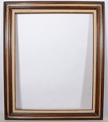 ANTIQUE VICTORIAN Wood Carved Gold Gilt 24x30\