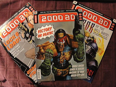 2000 AD #1154, 1155, 1156 Very Nice Condition