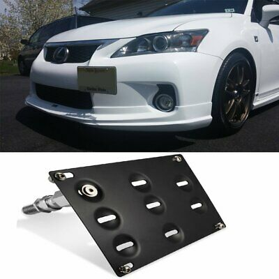 Front Bumper Tow Hook License Plate Bracket For Lexus IS IS-F CT GS RC  sc 1 st  PicClick & FLUSH DESIGN Front Bumper Tow Hook License Plate Mount Bracket For ...