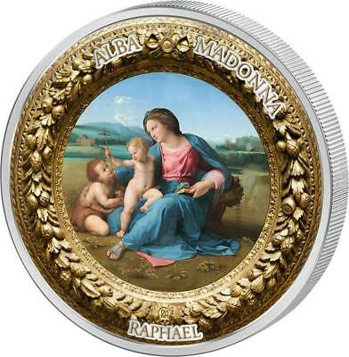 Niue 2017 $10 Perfection in Art - Alba Madonna 2 oz Silver Coin