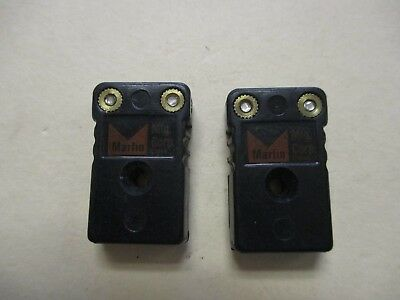 Marlin Mfg Corp Used Black Mini 2-Pole Plugs (QTY 2)