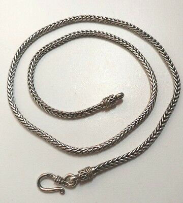 Sterling Silver Rope Chain Necklace 19 Inch India .925 Pure 32.1 Grams t.w.