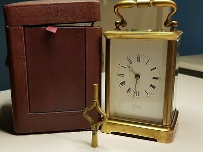 19th CENTURY FRENCH HALL & CO MANCHESTER TIMEPIECE CARRIAGE CLOCK