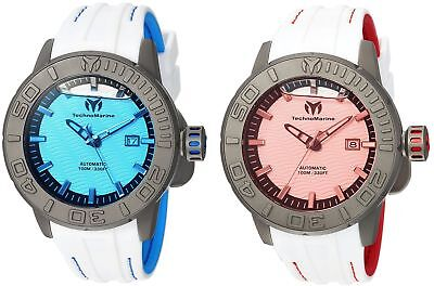 Technomarine Reef Men's 48mm Automatic Titanium White Rubber - Choice of Color