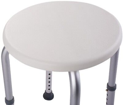 Bath Stool Shower Chair Tub Medical Seat Round Bathing Aid 7 Height Adjustable