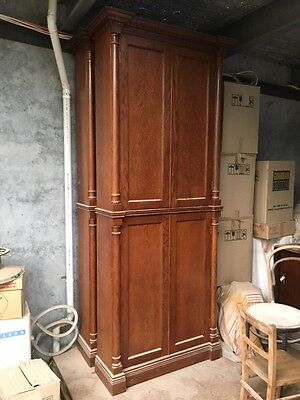 Old style solid Oak cabinets