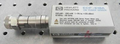 C148748 HP ECP-E18A CW Power Sensor 100pW-100mW (-70 to +20dBm) 10MHz-18GHz