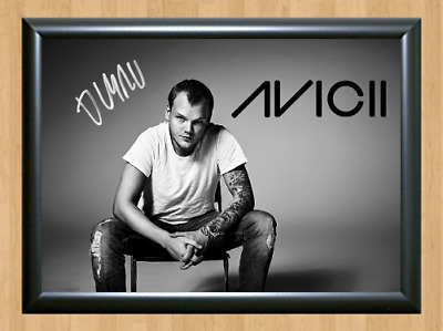 Avicii Electro House DJ Signed Autographed A4 Photo Print Poster Memorabilia cd