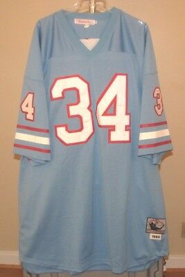 33abac2fa Houston Oilers NFL Mitchell   Ness Vintage Blue Earl Campbell  34 size 56  Jersey