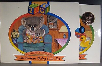 "2001 Australia Centenary of Federation ""Baby Coin Set"" Proof *FREE U.S. SHIPPING"