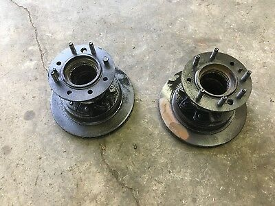 PAIR FORD DANA 60 front DRW BUDD wheel hubs dually F350