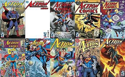 ACTION COMICS #1000 SET x10 JIM LEE 30S 40S 50S 60S 70S 80S 90S 2000S BLANK