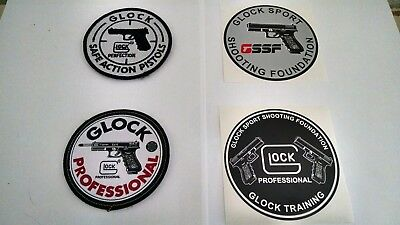 Glock Sport Shooting Foundation GSSF Stickers & Velcro Patch Lot of 4 Items New