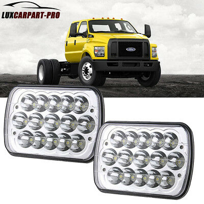 "7''X6"" LED Headlight fit up for Ford Super Duty Truck F550 F600 F650 F700 E350"