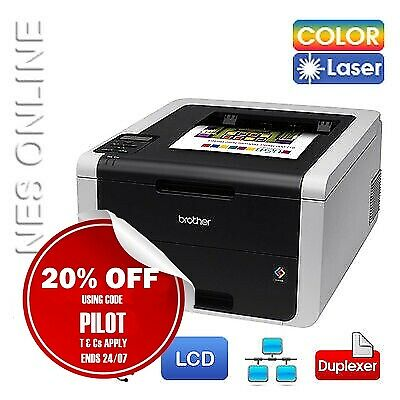 Brother HL-3150CDN Colour Laser Network Printer+Duplexer+TN251 RRP$279 *RFB*