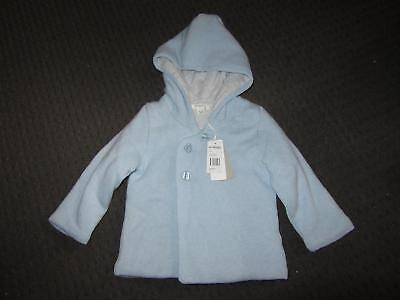 Purebaby Size 0 Blue Baby Boys Knitted Coat BRAND NEW Tags Ages 6-12 Months