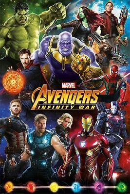 Avengers Infinity War Movie Poster Large 61x91cm Marvel Film Wall Print Art 3